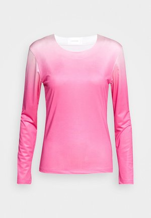 RILEY LONG SLEEVE - Long sleeved top - pink dip dye