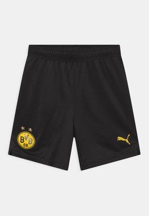BVB BORUSSIA DORTMUND UNISEX - Urheilushortsit - black/cyber yellow