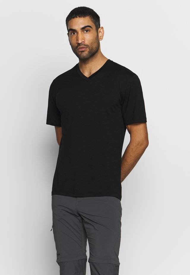 RAVYN - Basic T-shirt - black