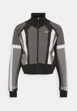 Training jacket - black/white/metallic silver