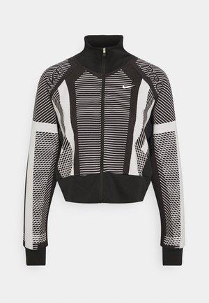 Treningsjakke - black/white/metallic silver