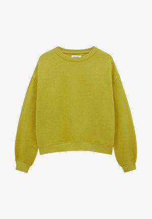 MIT RUNDAUSSCHNITT - Sweatshirt - mottled green
