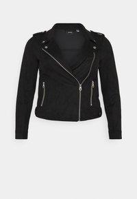 Vero Moda Curve - VMBOOSTBIKER - Faux leather jacket - black - 0