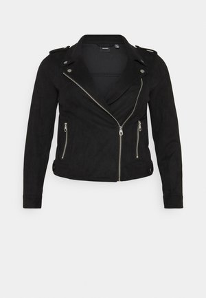 VMBOOSTBIKER - Faux leather jacket - black