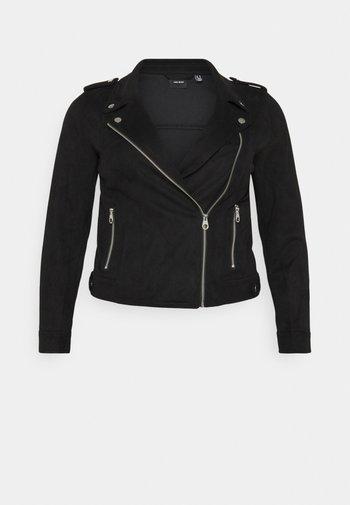 VMBOOSTBIKER - Faux leather jacket - black
