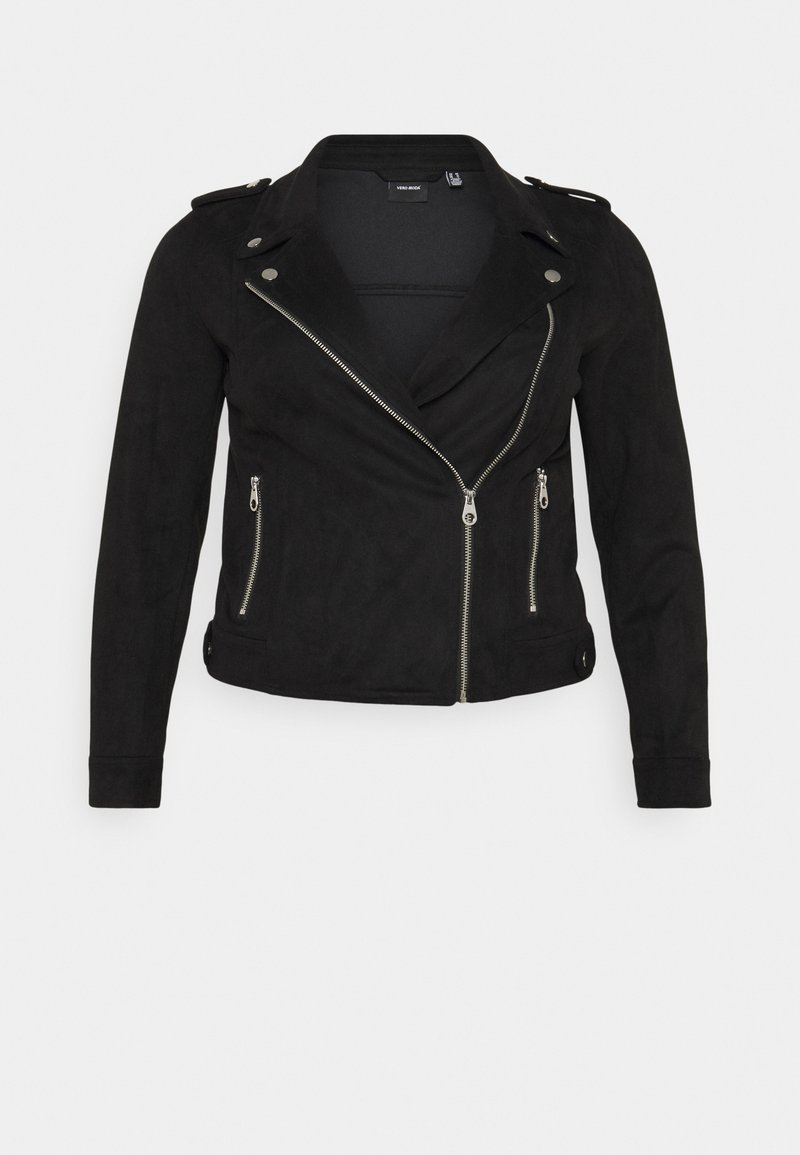 Vero Moda Curve - VMBOOSTBIKER - Faux leather jacket - black