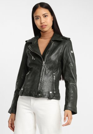 GGFAMOS LAMAXV - Leather jacket - forest green