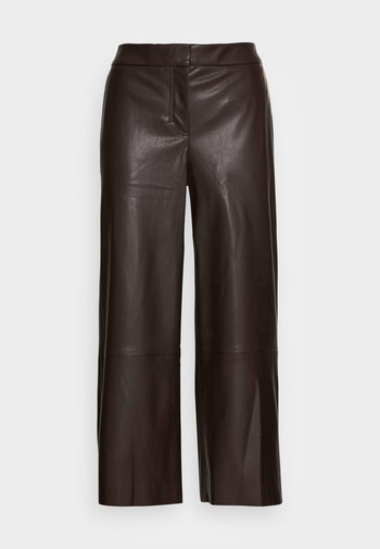 CHANG - Leather trousers - chocolate