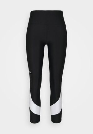 TAPED ANKLE LEG - Leggings - black