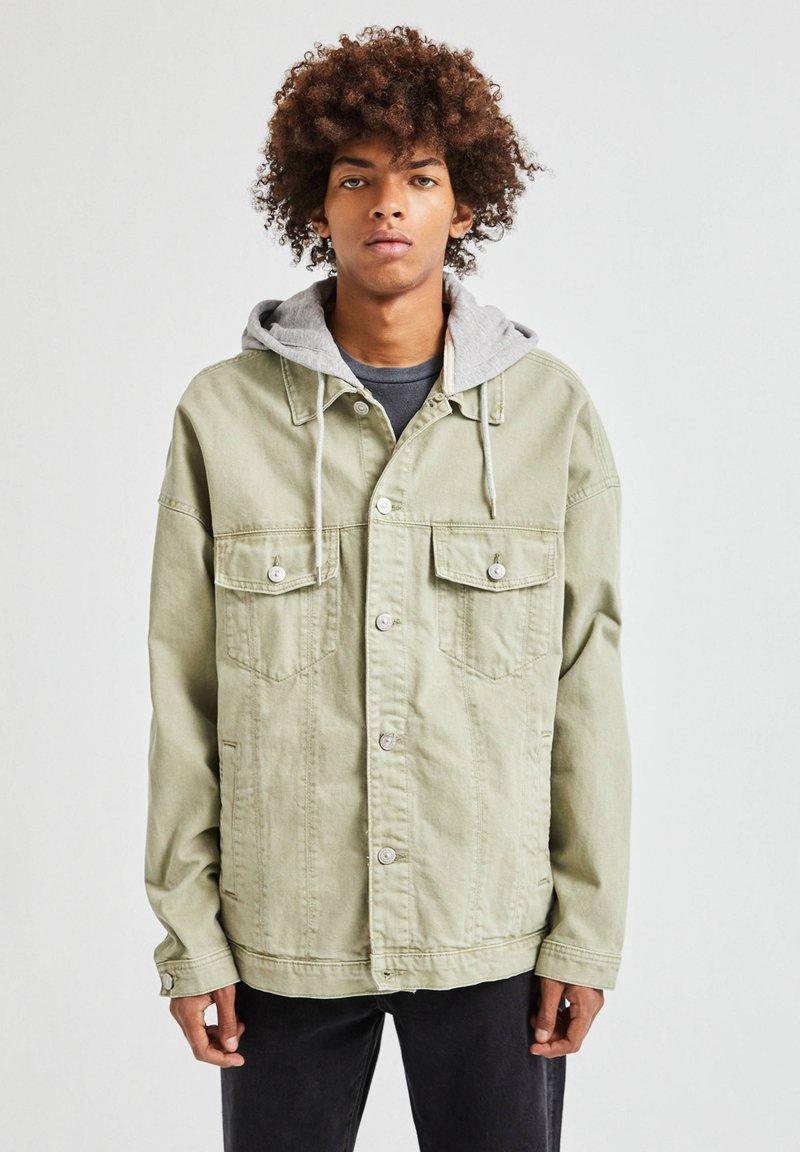 PULL&BEAR - Denim jacket - khaki