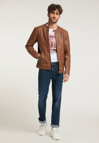 Mustang - Leather jacket - braun - 1