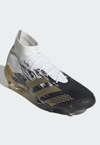 adidas Performance - FOOTBALL FIRM GROUND - Moulded stud football boots - ftwwht/goldmt/cblack - 3