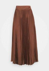 Selected Femme - SLFMILONA PLISSE SKIRT  - Pleated skirt - marron - 1