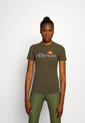 DELLE - Print T-shirt - khaki