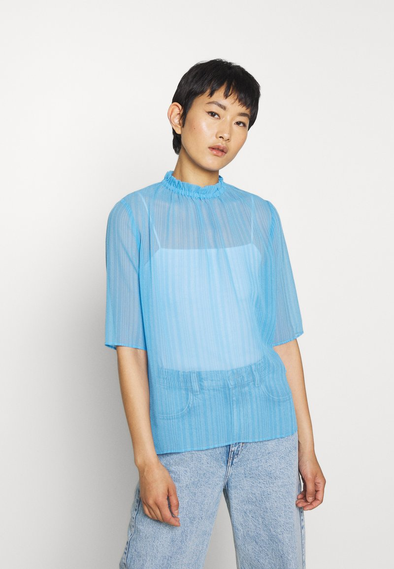 Another-Label - PYRAMIDES - Blouse - azure blue