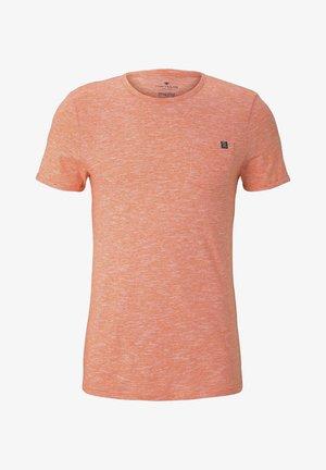 WITH CHEST POCKET - Basic T-shirt - orange dot structure
