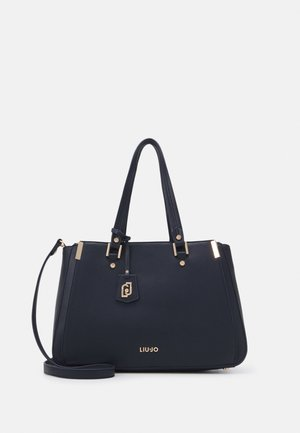DOUBLE ZIP SATCHEL - Handbag - midnight