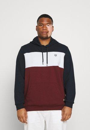 MARLEY SPLICED HOODIE - Sweatshirt - dark blue/white/red