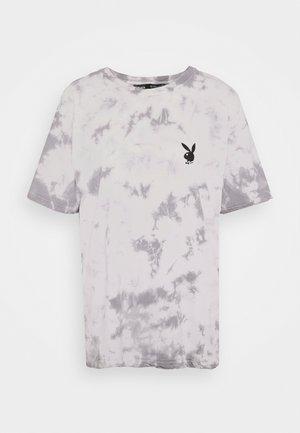 PLAYBOY TIE DYE OVERSIZED - Print T-shirt - charcoal