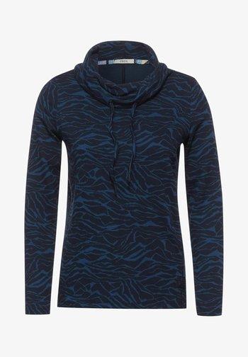 JACQUARD - Long sleeved top - blau