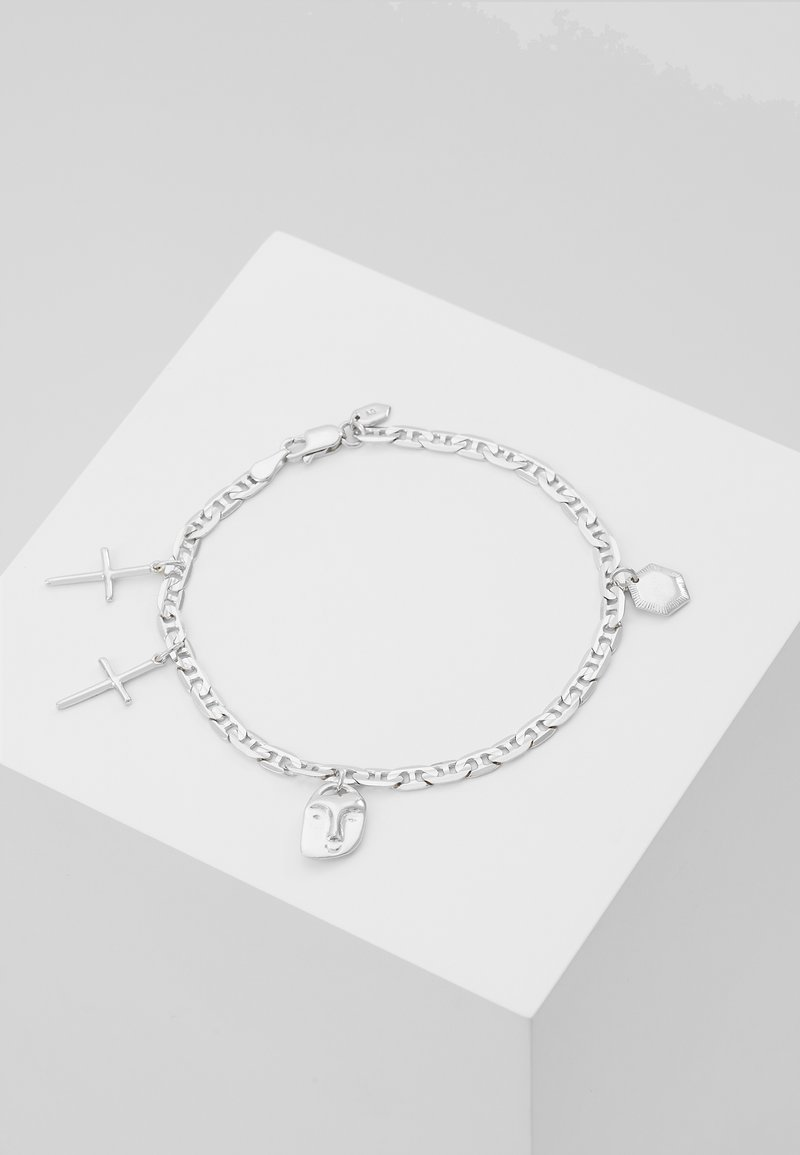 Maria Black - FRIEND CHARM BRACELET MEDIUM - Bracelet - silver-coloured