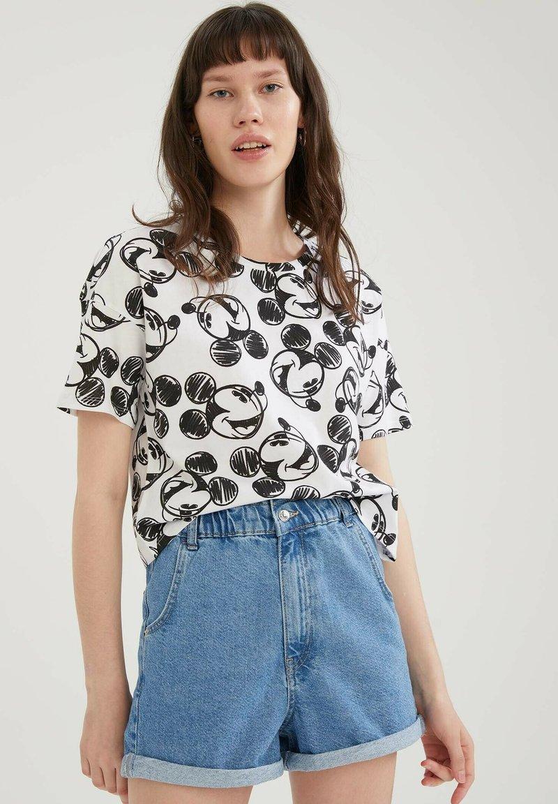 DeFacto - Disney's Mickey - Print T-shirt - white