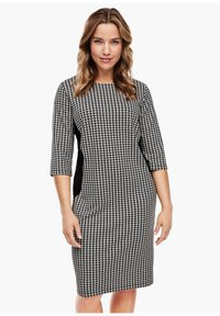 Triangle - Jersey dress - black houndstooth aop - 1