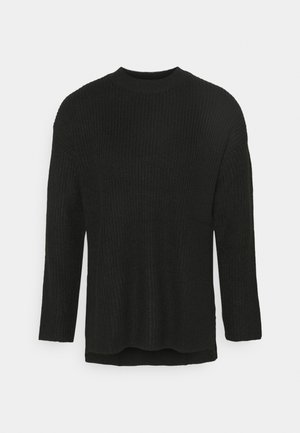 LONG LINE - Jumper - black