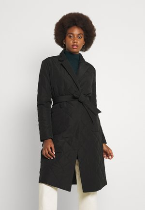 ONLTRILLION QUILT LONG COATIGAN - Classic coat - black