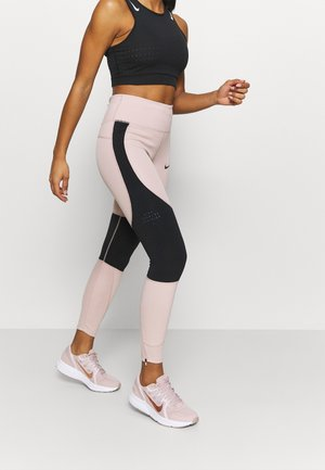 RUN EPIC  - Legging - stone mauve/black