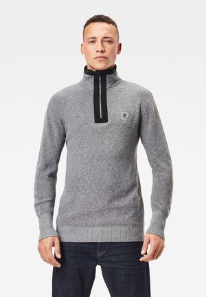 UTILITY CONSTRUCTED HALF ZIP - Stickad tröja - steel grey