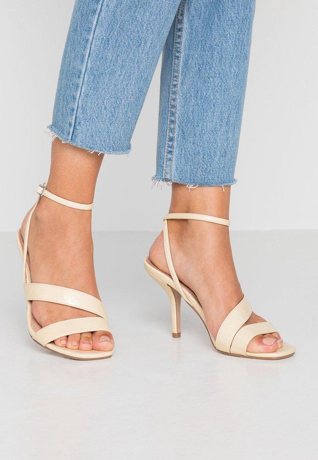 NERO MID - High heeled sandals - ivory
