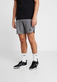 Nike Performance - FLEX REP SHORT - kurze Sporthose - charcoal heather/black - 0