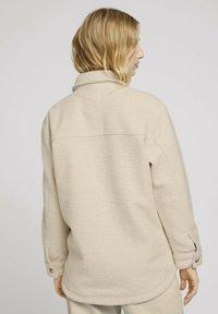 TOM TAILOR DENIM - Fleece jacket -  beige - 2