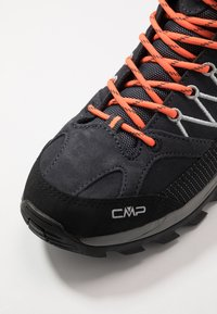 CMP - RIGEL MID TREKKING SHOES WP - Hiking shoes - antracite/flash orange - 5