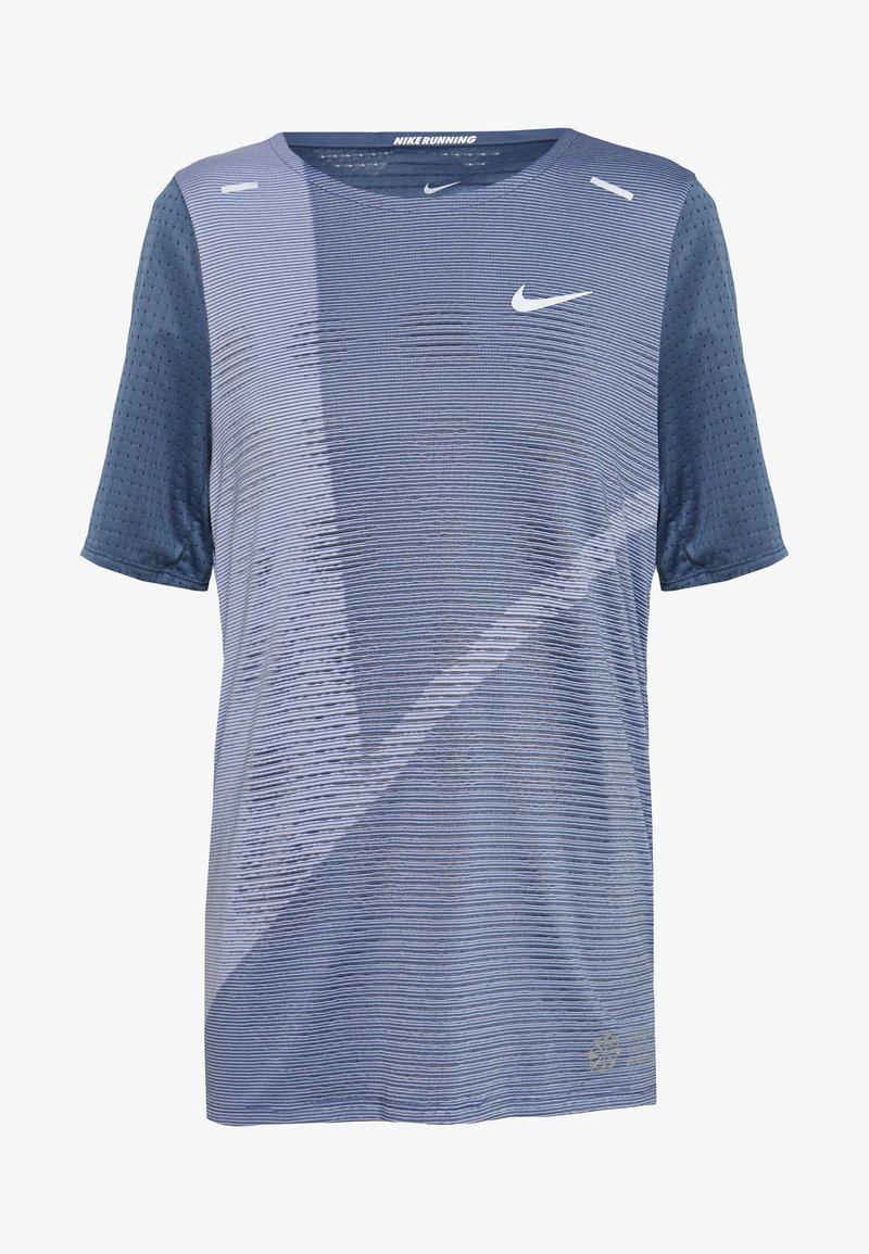 Nike Performance - RISE HYBRID  - Print T-shirt - diffused blue/silver