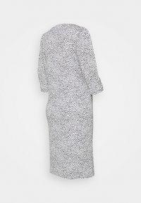 MAMALICIOUS - MLBEATRICE DRESS - Jersey dress - snow white/black - 1