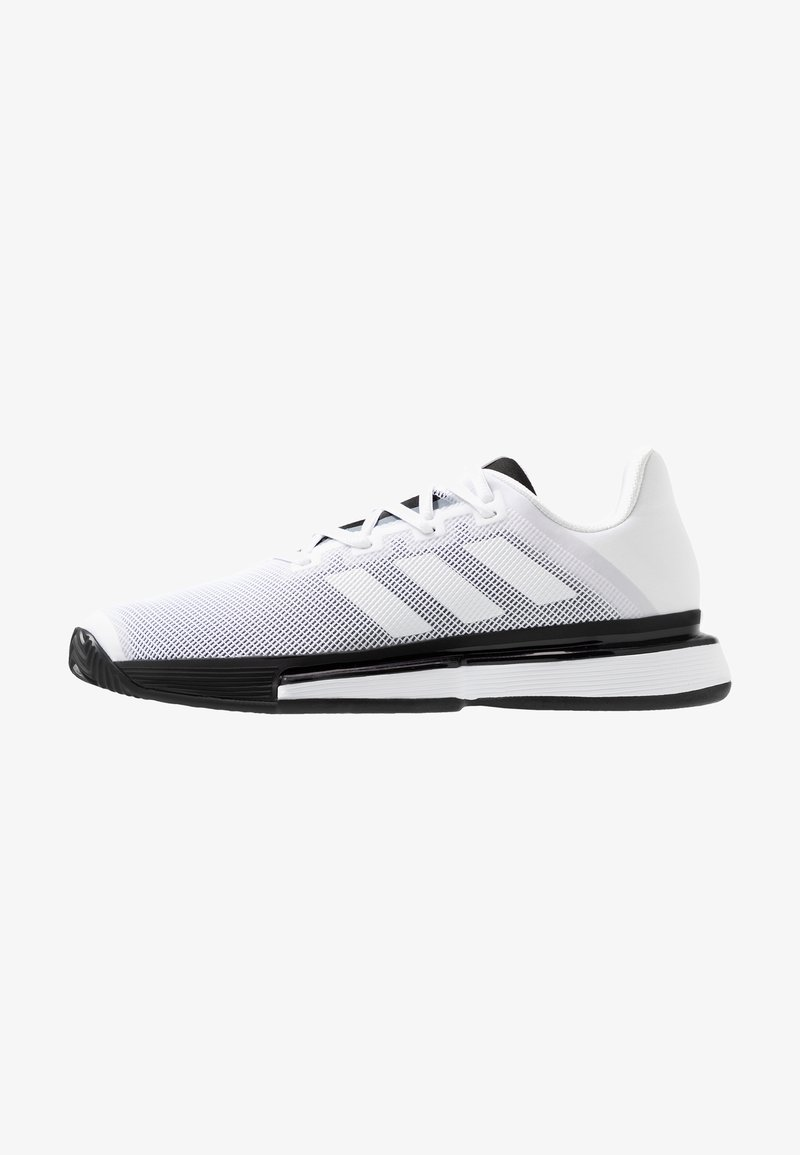 adidas Performance - SOLEMATCH BOUNCE - Clay court tennis shoes - footware white/core black