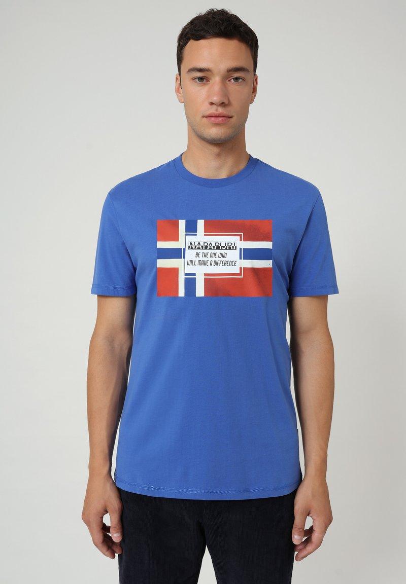 Napapijri - SERA - Print T-shirt - blue dazzling