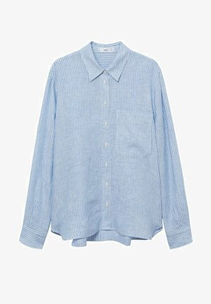 Button-down blouse - bleu