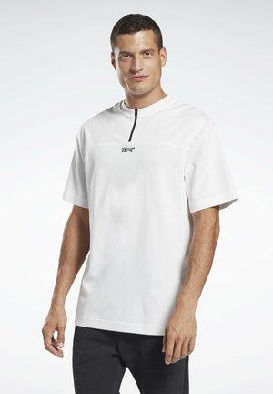 TYLER ZIP MEET YOU THERE WORKOUT - T-shirt imprimé - white