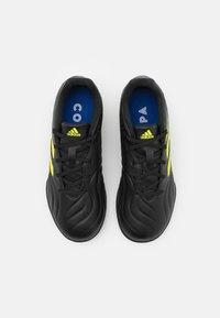 adidas Performance - COPA SENSE.3 TURF - Astro turf trainers - core black/footwear white/solar yellow - 3