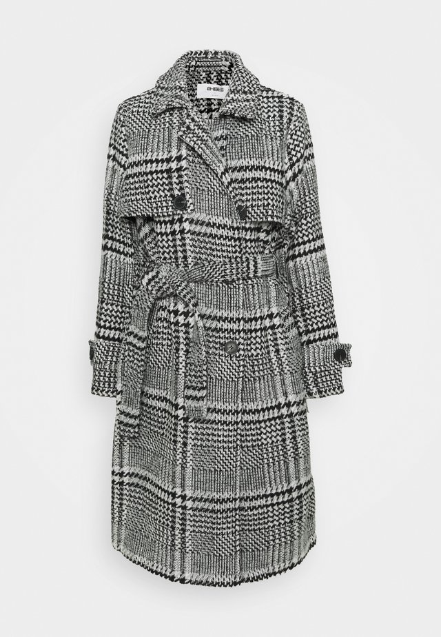 MONICH - Classic coat - black/white
