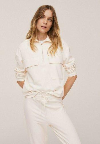 Sweatshirt - blanc cassé