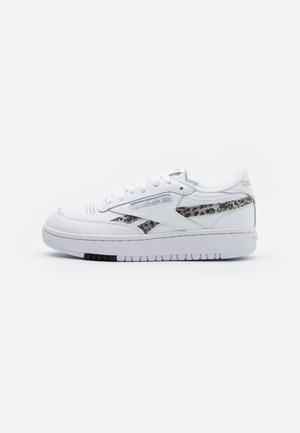 CLUB DOUBLE - Sneaker low - white/silver metallic/black