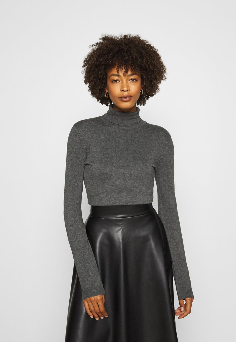Anna Field - BASIC- TURTLE NECK - Strikkegenser - dark grey