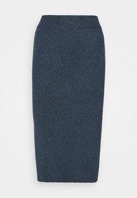 Lindex - SKIRT VIC - Pencil skirt - dark blue melange - 0