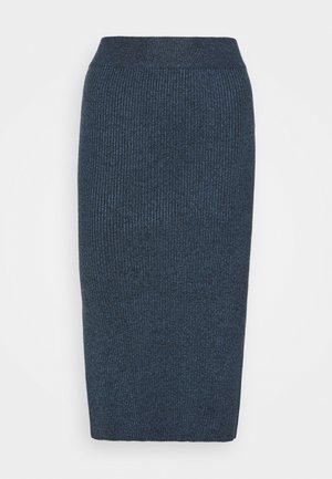 SKIRT VIC - Pencil skirt - dark blue melange