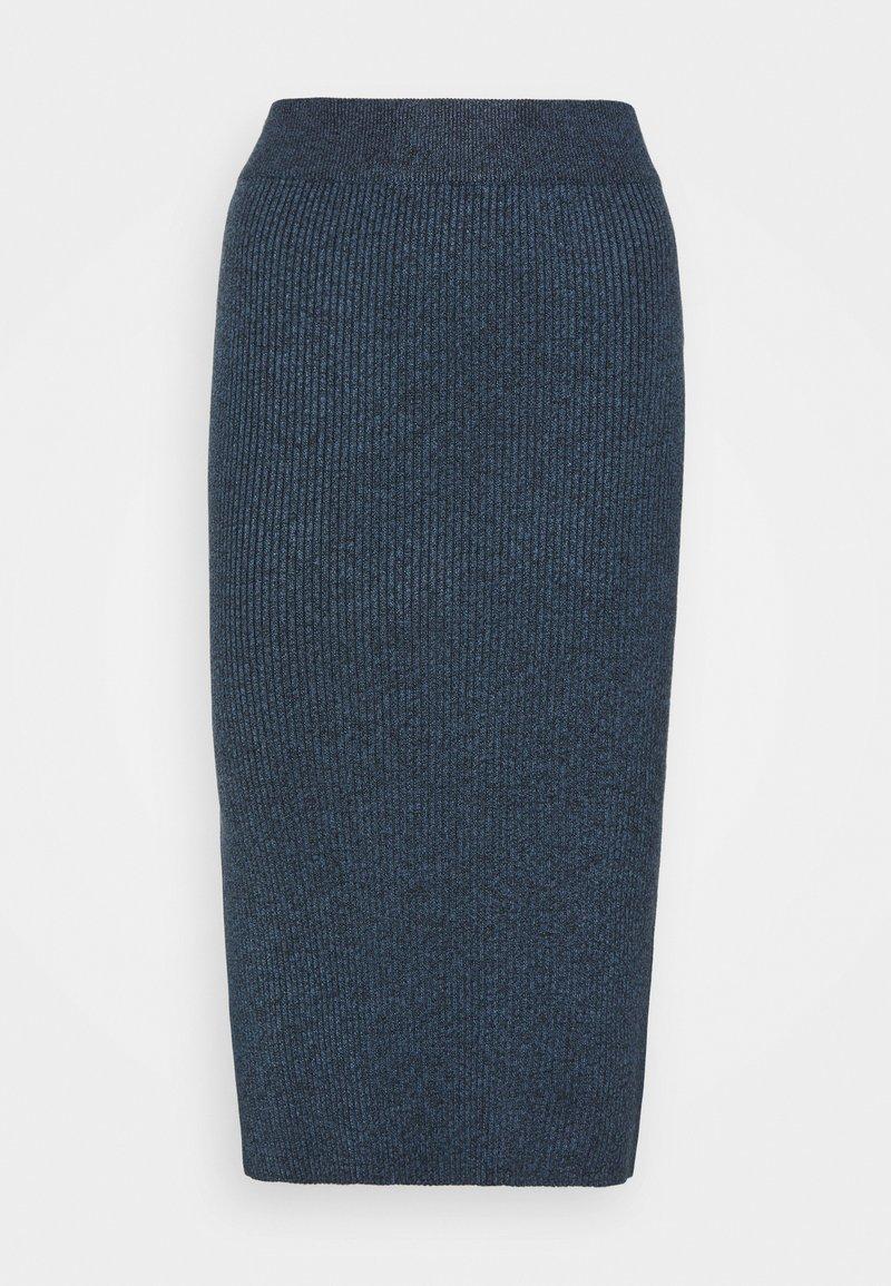 Lindex - SKIRT VIC - Pencil skirt - dark blue melange