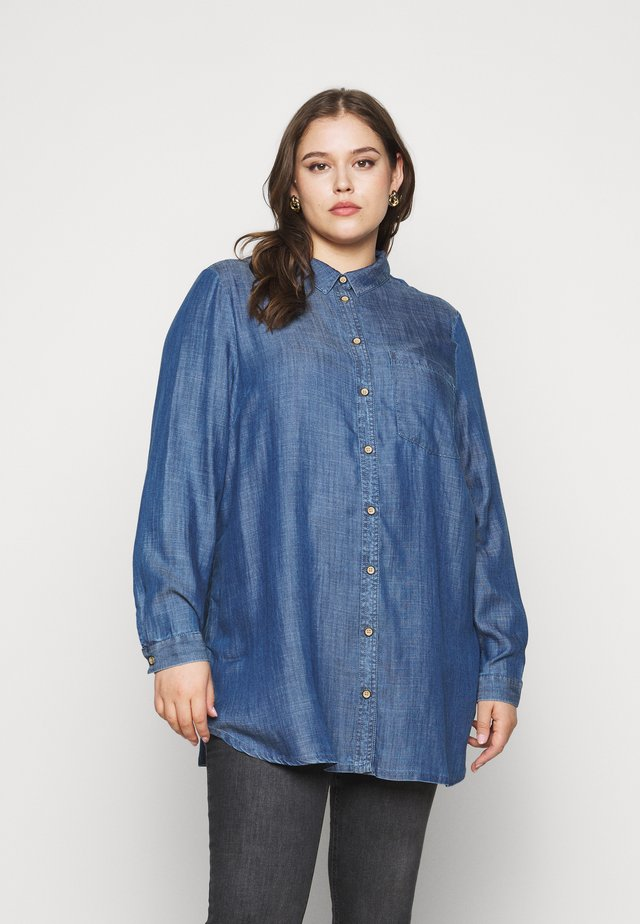 Button-down blouse - dark blue